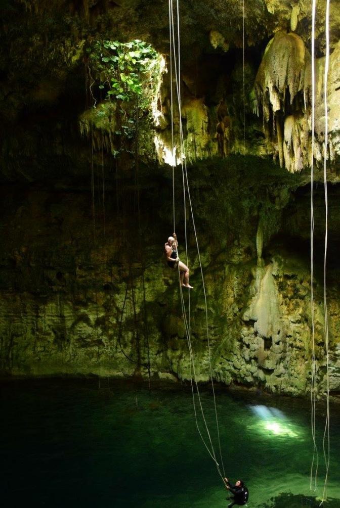 Lauren in Cenote